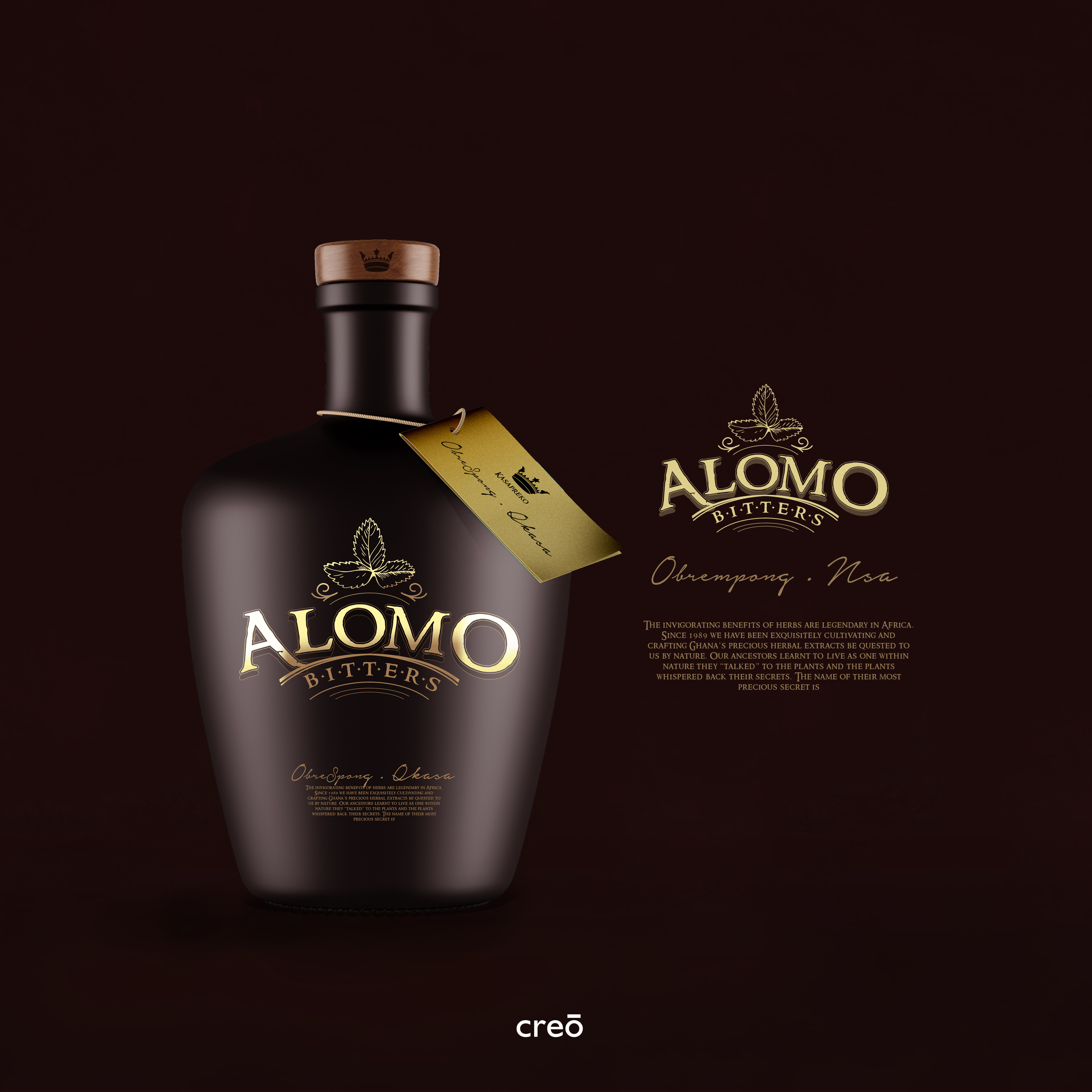 Creo Concepts Package Branding - Alomo Bitters